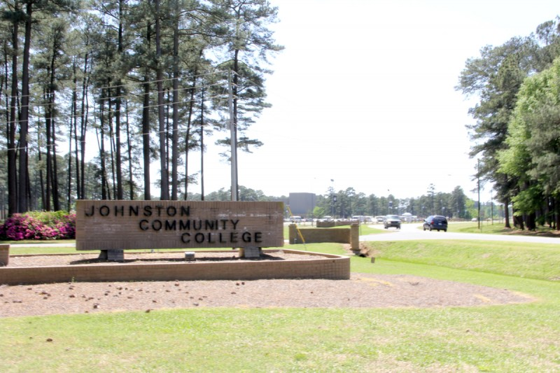 One of the entrances to Johnston Community College, located in rural Smithfield, N.C.