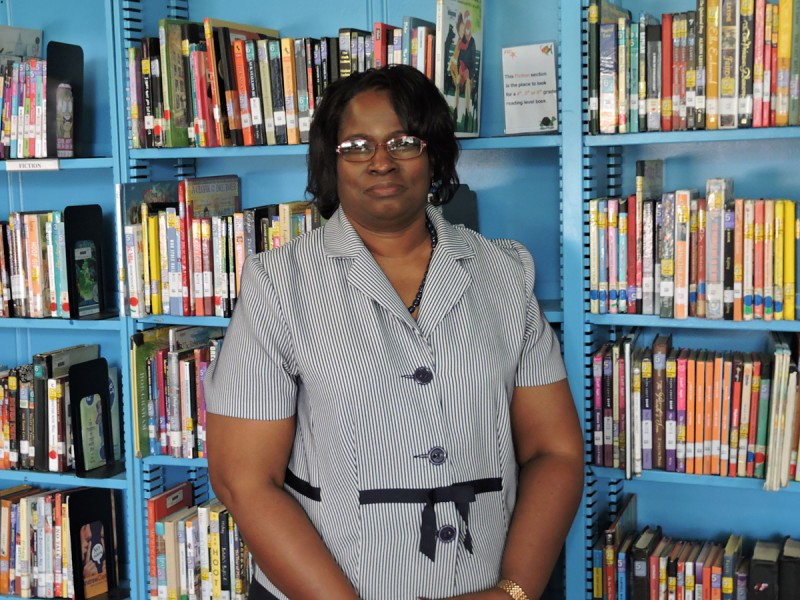 Librarian Ruby Burkhead has worked at Marshall Elementary for 19 years.