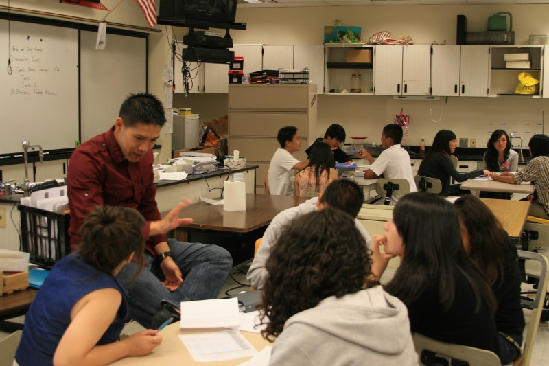 The 19-day Elevate math summer program from the Silicon Valley Education Foundation includes group work projects for students.