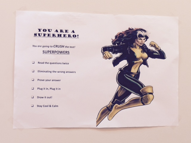 At Rocketship schools, inspiring posters hang on the walls. This one gives test-taking tips.