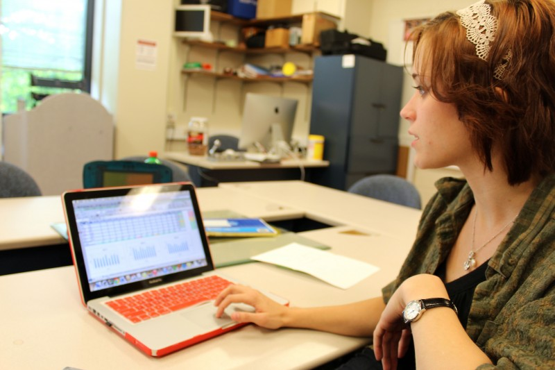Technology courses are state-mandated for special education majors like Christine Leimberger, who says technology is integral to developing individual education plans in special ed.
