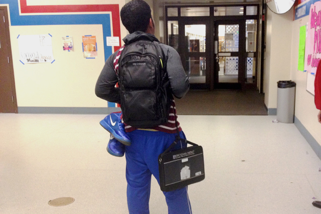 Just a typical day for a student in Kent Meridian High School. (Photo: Rachel Monahan)