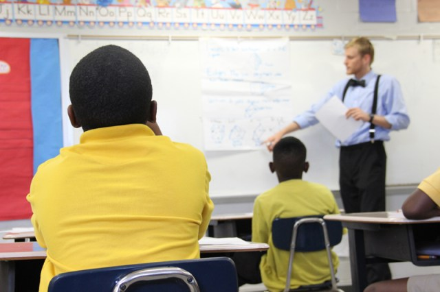 Students attend a summer session at Lyon Elementary School near the city of Clarksdale in the Mississippi Delta. School districts throughout the state could see increased competition from charter schools if a controversial bill passes the Mississippi legislature this session. (Photo by Jackie Mader)