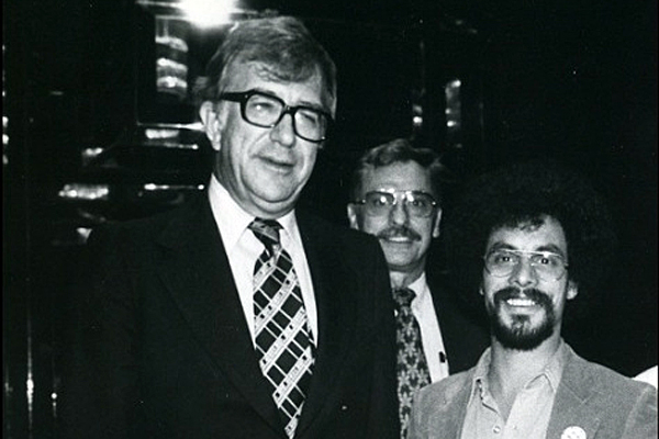 Al Shanker, organizer Paul Bradford, and the author, c. 1979