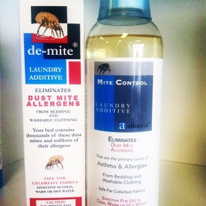 Wash away mites with our laundry additives!
