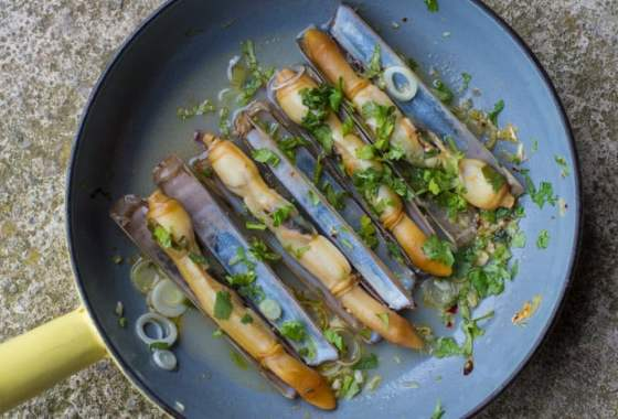 Asian Style Razor Clams (and how to catch a razor clam!)