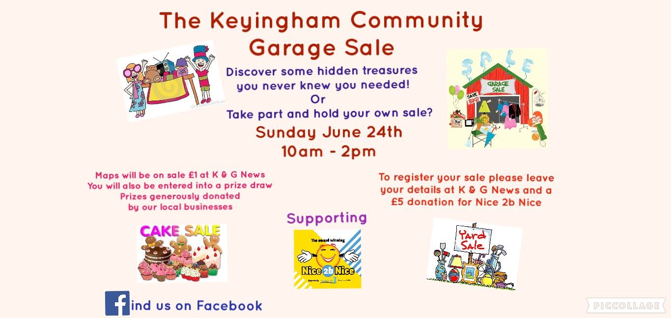 Garage Art Facebook Keyingham Community Garage Sale Sun 24 June 2018 Hu12 Online