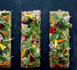 CORRIANDER TOAST SMOKED CASHER HERBS FLOWERS