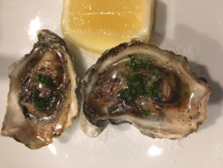 Grilled Oyster with Bone Marrow Butter
