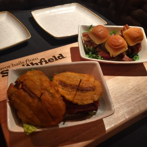 BLT Jibarito and Mojo Pulled Pork Bacon Sliders