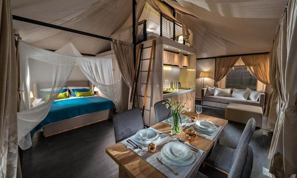 Mobilni glamping šotor je novost na svetovnem trgu.
