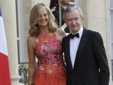 Bernard Arnault in Hélène Mercier