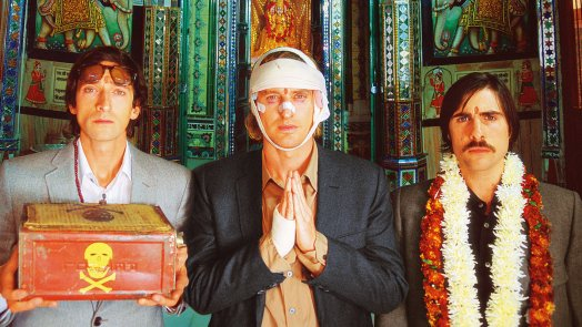 Jack Whitman (Jason Schwartzman), Francis Whitman (Owen Wilson) in Peter L. Whitman (Adrien Brody) v filmu The Darjeeling Limited (Darjeling Limited, 2007)