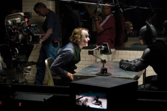 The Dark Knight (2008): Heath Ledger in Christian Bale