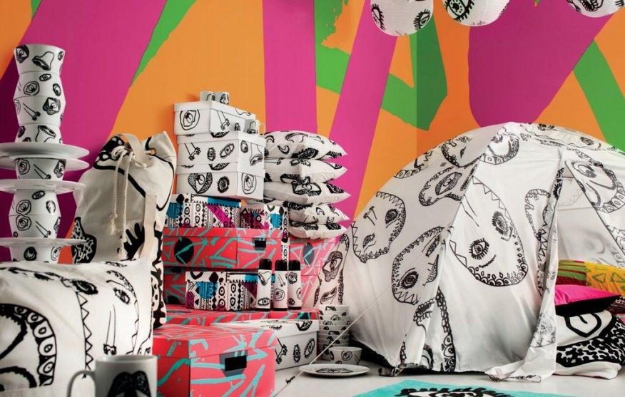 Kolekcija Ikea Spridd se odlikuje po pisanih barvah.