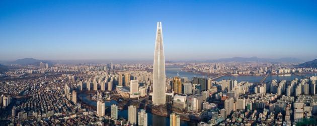 Vstopite v najhitrejše dvigalo na svetu: lift v Lotte World Tower vas prežarči nadstropja više