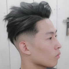 Side Part Hairstyle + Texture + Low Fade