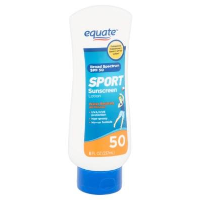 Najboljše kreme za sončenje 2017: 3. Equate Sport Sunscreen Lotion ZF 50