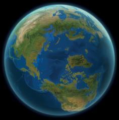 Kako bi bila videti Zemlja, če bi se ves led stalil?