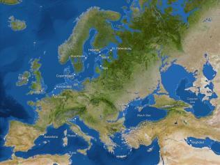 Kako bi bila videti Zemlja, če bi se ves led stalil: Evropa