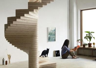Čudovito leseno stopnišče