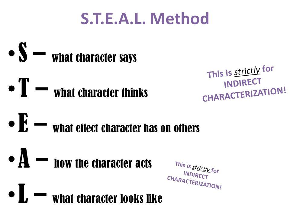 Direct vs Indirect Characterization - Mrs Hedstrom\u0027s Reading