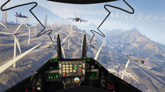 GTA V flight