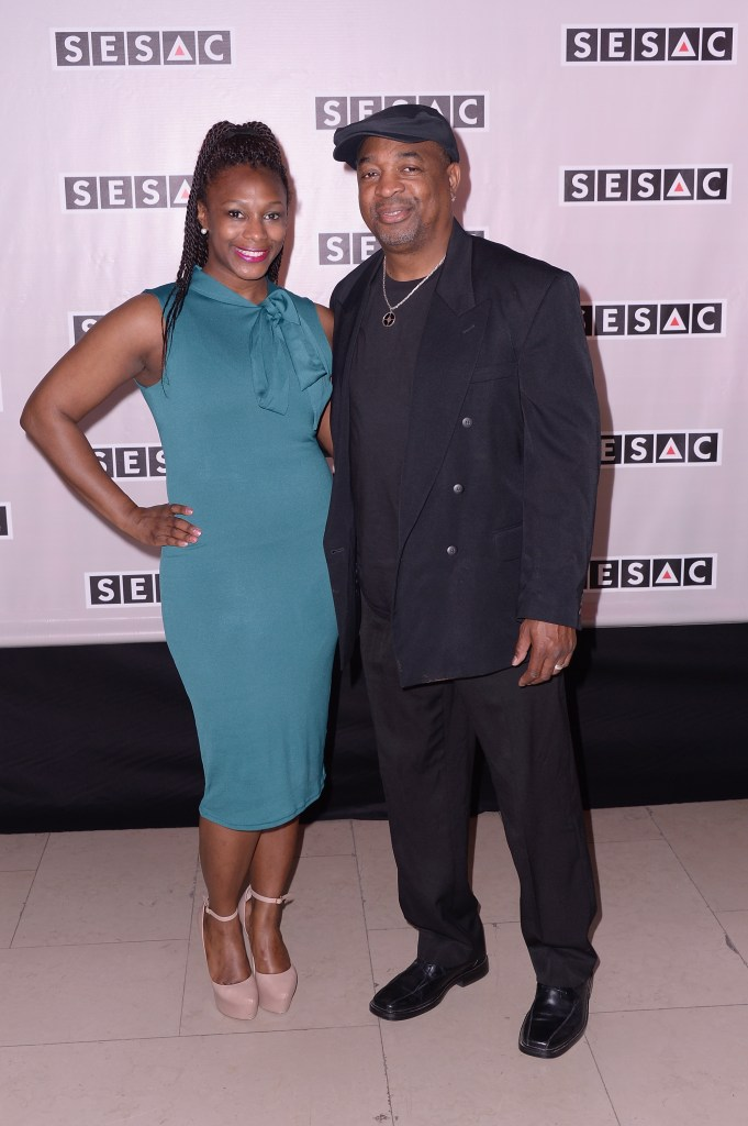 NEW YORK, NY - MAY 04:  Dominique Ridenhour and rapper Chuck D attend the 2015 SESAC Pop Music Awards at New York Public Library on May 4, 2015 in New York City.  (Photo by Stephen Lovekin/Getty Images for SESAC) *** Local Caption *** Dominique Ridenhour;Chuck D