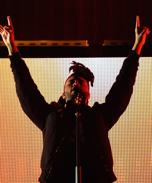 PHILADELPHIA, PA - SEPTEMBER 06:  The Weeknd performs on stage during 2015 Budweiser Made in America festival at Benjamin Franklin Parkway on September 6, 2015 in Philadelphia, Pennsylvania.  (Photo by Dimitrios Kambouris/Getty Images for Anheuser-Busch)