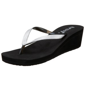 reef krystal wedge flip flop