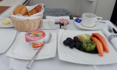 Thai Airways First Class A380 breakfast fruit