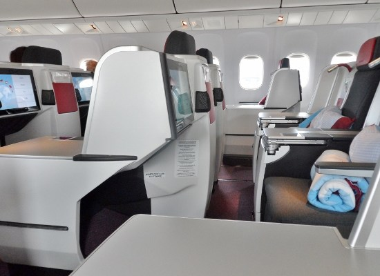 Austrian Airlines Business Class Empty