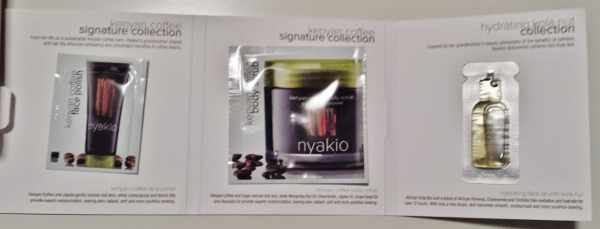 June 2014 Birchbox nyakio kenyan coffee face set