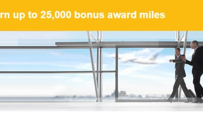 United 25000 bonus award mile offer