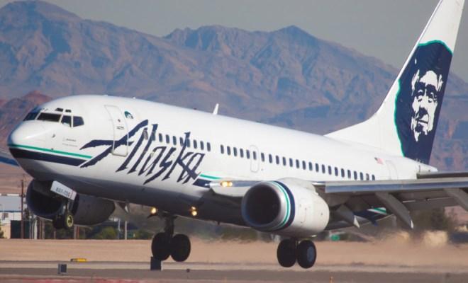 Alaska Airlines runway takeoff
