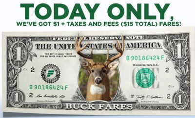 Frontier Airlines Buck Fare cheap airfare