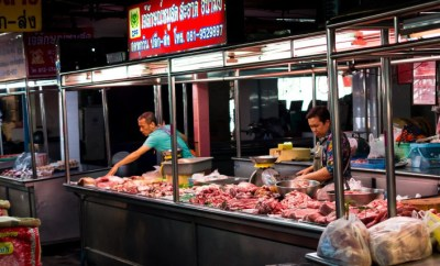 chiang mai meat stall