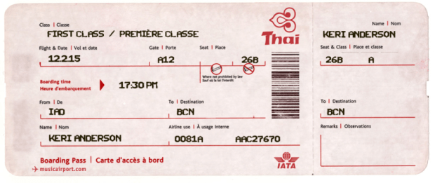 Travel ticket template for First flight certificate template