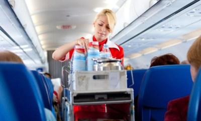 flight attendant food beverage cart