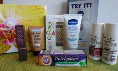 Summer Walmart Beauty Box Review contents