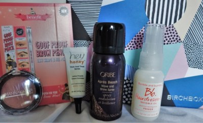 August Birchbox 2016 contents