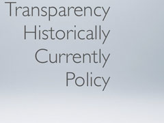 Transparency & Policy