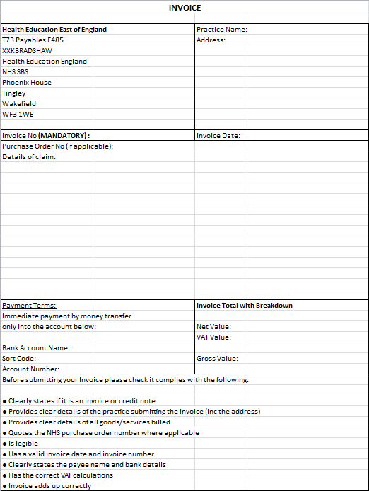Invoice Template Bank Details – Neilsafe.Net