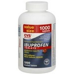 Value size bottle of ibuprofen