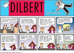 Dilbert cartoon about cause and effect