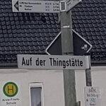 """Straßenschild """"Auf der Thingstätte"""""""