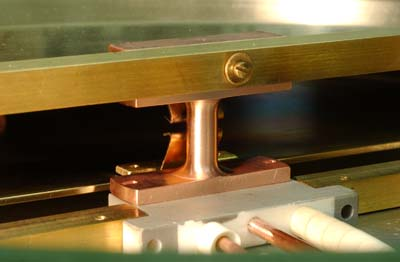 Fig.4 Front (~180-degree) view of the pullers installed (chamber lid removed).