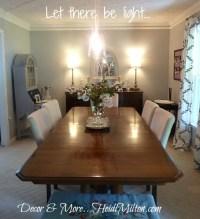 DIY Pendant Light Fixture {Dining Room Details}