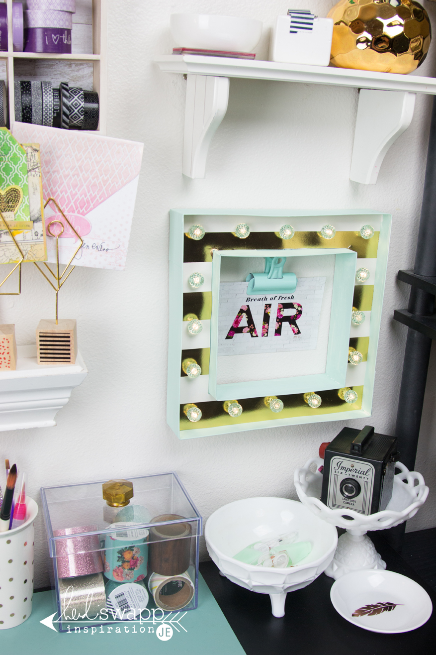 Studo gallery wall with washi storage solutions by @createoften for @heidiswapp