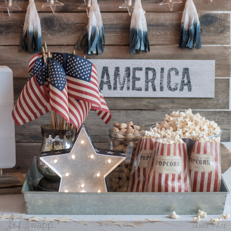 Celebration in Lights and Marquee Love create beautiful July 4 party decorations.   @jamiepate for @heidiswapp